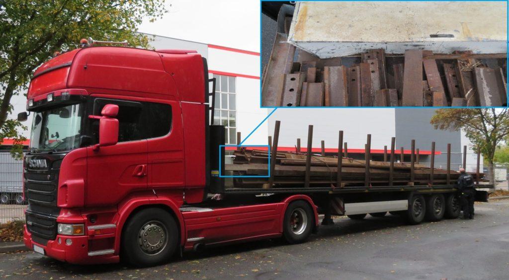 Niemcy – zatrzymano ciężarówkę z Polski przy hamowaniu tory mogły przedostać się do kabiny kierowcy