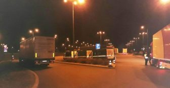 WITD – nocne kontrole na A1 wszyscy kierowcy byli trzeźwi - wykryto naruszenia czasu pracy