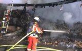 Niemcy – A1- spłonęła naczepa z Polski – kierowca zapobiegł większym stratom