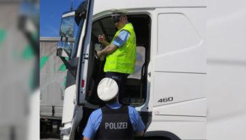 Niemcy – specjalna akcja Policji i BAG - kontrola 45h odpoczynków oraz liczby kabotaży. Ponad połowa ukarana.