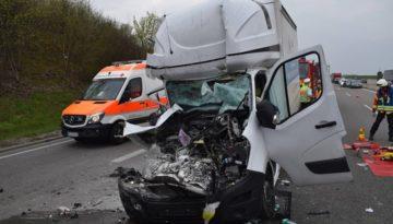 Niemcy – Kierowca Sprintera z Polski ciężko ranny po wypadku na A6