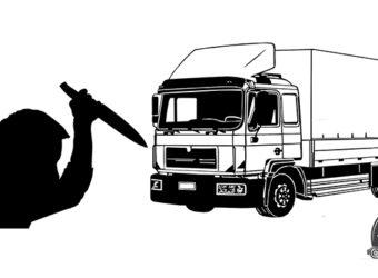 Niemcy – kierowca ciężarówki raniony nożem i skopany na środku autostrady. Policja szuka sprawców i prosi o pomoc