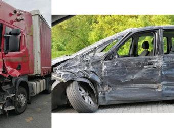 Puławy – Pijany kierowca ciężarówki (3 promile) doprowadził do wypadku i uciekł z jego miejsca